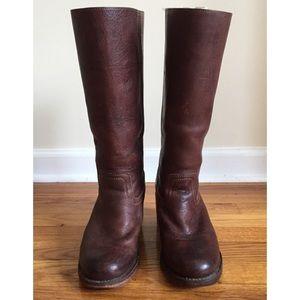 Frye Campus 14L Boots in Dark Brown